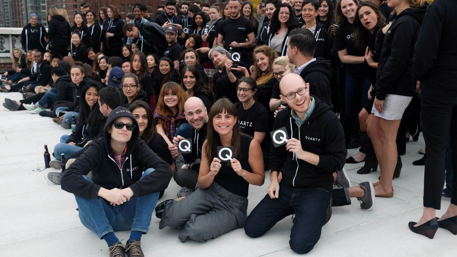 The Quartz Team (Photo by Quartz/Mia Mabanta)