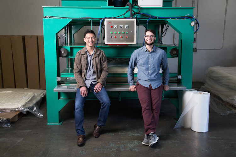 Tuft & Needle founders Daehee Park and JT Marino. Image via Entrepreneur.